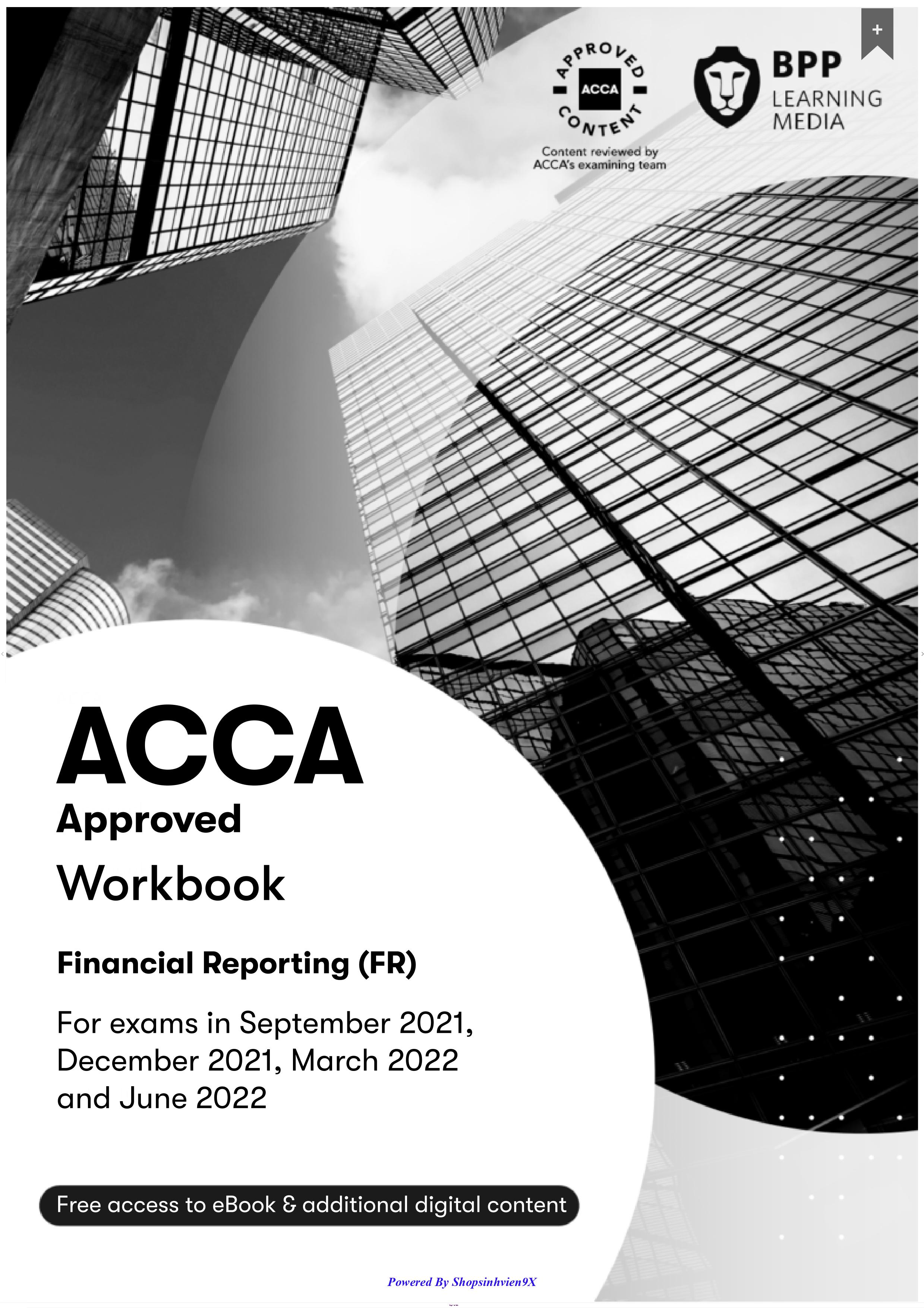 Tài Liệu ACCA F7 Financial Reporting (FR) 2022 - Work Book & Revision Kit